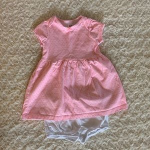 Bright and cheery baby dress with diaper cover